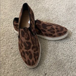 Women's A New Day leopard slip ons